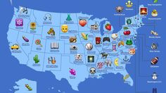 Why is Nevada is the top eggplant emoji user in the USA? Keyboard app SwiftKey analyzed the data of its users to figure out, state by state, how people use emojis. Here are its findings: Swift Key / Via swiftkey. United States Map, U.s. States, Nevada, Le Vermont, Kansas Missouri, Oklahoma, Us Map, State Map, Illustrations