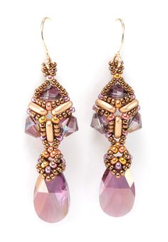 Opulent Earrings - Cindy Holsclaw - Bead Origami