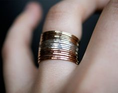 Hey, I found this really awesome Etsy listing at https://www.etsy.com/listing/168613759/mixed-metal-stacking-set-of-15-pink-gold