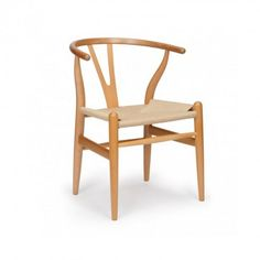 Silla Y-Chair madera natural CH24