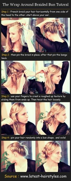 The Wrap Around Braided Bun Tutorial | Beauty Tutorials