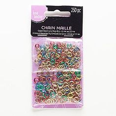 Jumpring mix, copper, mixed colors, 4.5-5.5mm round, 17-18 gauge. Sold per pkg of 250.