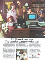 Texas Instruments Computer 1983 Ad Picture