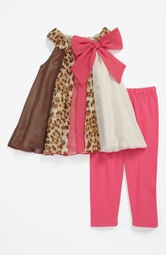 Iris & Ivy Leopard Print Dress & Leggings (Baby Girls) available at #Nordstrom  I have to have this!!!