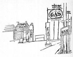 Ben Shahn – Gas Station