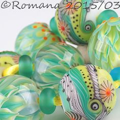 "Artisan Lampwork Beads by Romana - ""Days of Spring"" #ArtisanLampworkBeads"