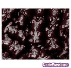Black Cherry Gummy Bears: 5LB Bag