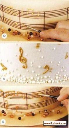Love this music note cake <3