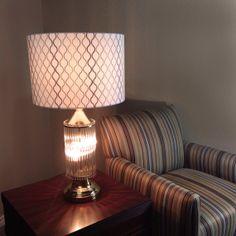 Vintage Glass Rod Lamp with Shade / Gaetano Sciolari Era / Mid Century Modern