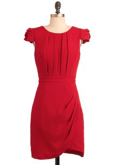 what a gorgeous red dress...would be perfect for that office Christmas party...if you had one to go to!!