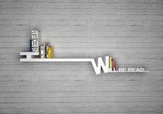 creative bookshelves:  Has been read  Will be read