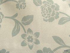 Tecido Suede Flores Verde Creme - Taiti 43
