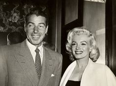 Marilyn And Joe Day It's Marilyn And Joe Day. This day 1954: Actress Marilyn Monroe married Mr. Coffee, baseball legend Joe DiMaggio, in San Francisco (Juan Valdez was best man). The marriage lasted nine months.  Rich Hancock.