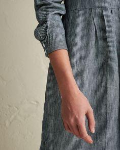Stripe Linen Shirt Dress