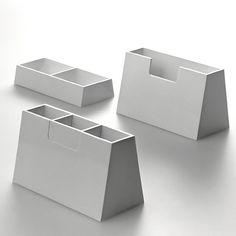 enzo mari / mastaba / servizio da scrivania  in melammina / danese / 1974