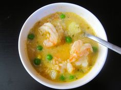 Chupe de camarones (peruvian shrimp chowder)    Made this and it was great! Needs a bay leaf in the recipe though and maybe paprika and i add the eggs whole when i add the shrimp
