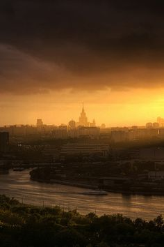 Evening in Moscow Russia