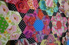 Big hexagons with diamonds... LOVE the polka dots