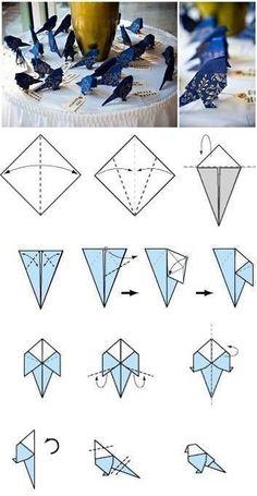 Wie-zu-machen-Origami-Vögel