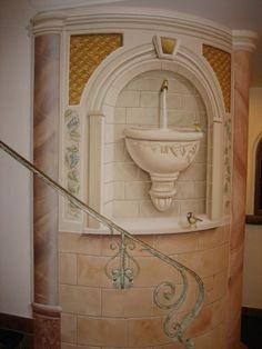 Wandmalerei-Brunnen