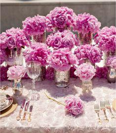 Pink wedding reception centerpiece idea; Featured photographer: lifeimages