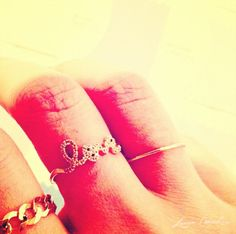 gold rings #love #chain #thinband
