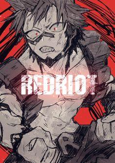 Eijiro Kirishima - My Hero Academia \ ^^ / Otaku Anime, Dc Anime, Fanarts Anime, Anime Manga, Anime Guys, Anime Art, Boku No Hero Academia, Kirishima My Hero Academia, My Hero Academia Memes
