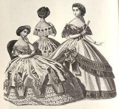Abiti Antichi - Storia della Moda 1883-1890