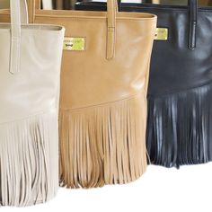 FRINGE Leather bag by Annamaria Pap  - handmade items