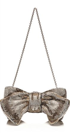 Judith Leiber ● Silver Bow Evening Bag