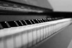 "Piano Photography - Black and White - Modern Abstract Art - ""The Piano"" Musical Instrument Print - Fine Art Photography 8x12. $25.00, via Etsy."
