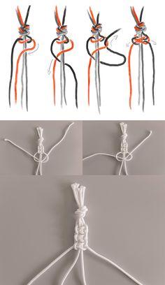 So knotet man Blumenampel, Wandbehang & Co, # Braids how to life Makramee selber machen? So knotet man Blumenampel, Wandbehang & Co, Diy Jewelry Rings, Diy Jewelry Unique, Diy Jewelry Making, Diy Bracelets Easy, Bracelet Crafts, Diy Jewelry Inspiration, Pinterest Diy, Macrame Knots, Mason Jar Diy
