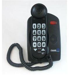 Fans-Tel FAN-T56B EzPro T56 56dB Amplified Phone - Black