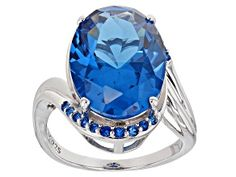 Add some sparkle to your look with JTV's gorgeous Pre-Owned Blue Lab Created Spinel Rhodium Over Silver Ring ! Shop JTV jewelry today for an incredible deal! Blue Gemstones, Gemstone Colors, Blue Topaz Ring, Types Of Rings, Sterling Silver Rings, Jewelry Collection, Jewelry Sets, Lab, Pink Wallpaper