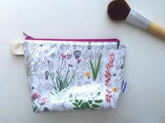 Botanical Flat Bottom Pouch Small handmade by handmadephilosophy