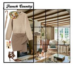 """My French Country Cottage Look"" by sharonvandoesburg ❤ liked on Polyvore featuring art and country"