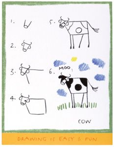 How to draw a cow by Joy Sikorski