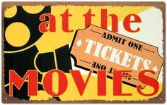 At The Movies Tin Sign