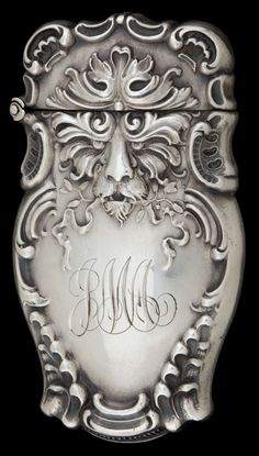 A BATTIN SILVER MATCH SAFE . Battin &Co., Newark, New Jersey,circa 1890.