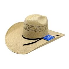 8e7d311238f77 Rodeo King Burlap Bangora Straw Hat ( 4 1 2