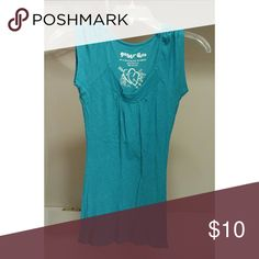 Turquoise Top This is a cute simple top.   Love the top but not the price? Bundle for a discount!   Smoke free, pet free home! Planet Gold Tops Tees - Short Sleeve