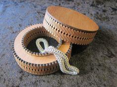 Laser cut jewellery box - Rimu Veneer.  By Micara