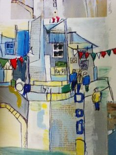 St Ives in mixed media