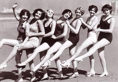 Bathing Beauties Leg Kicks c. early 1930s