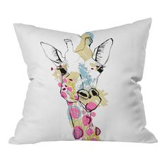 Casey Rogers Giraffe Color Pillow