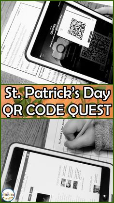 Upper elementary students love digital learning! This QR Code resource gets students scanning and reading about St. Patrick's Day. Your 3rd, 4th, 5th, or 6th grade students can work independently, in pairs, or in small groups.