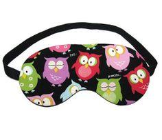 Snoozing Owl Sleep Eye Mask by oddsnblobs on Etsy, $12.00