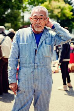Coveralls | At the Flea Market with Rei | Tokyo | The Sartorialist