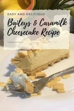 This Baileys Caramilk Cheesecake has been a huge hit and it's easy to see why. You will love this delicious no bake treat. Baileys Recipes, Fudge Recipes, Cheesecake Recipes, Chocolate Recipes, Baking Recipes, Dessert Recipes, Cadbury Recipes, Dessert Ideas, Baileys Cheesecake