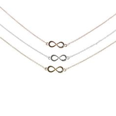 3 Pack Infinity Best Friends Necklaces I need a 4 pack Emmy Bambi And Byllie Bff Necklaces, Best Friend Necklaces, Friend Bracelets, Best Friend Jewelry, Cute Necklace, 3 Best Friends, Best Friend Gifts, Gifts For Friends, Friendship Necklaces